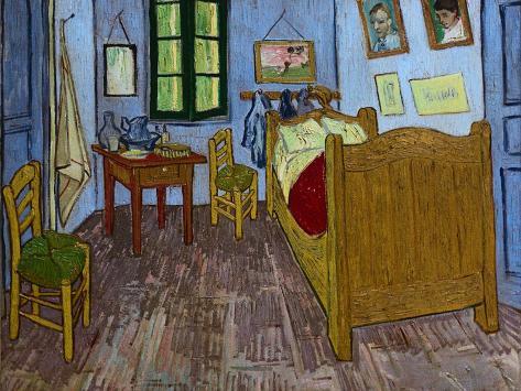 Van Goghs Schlafzimmer Giclée-Druck von Vincent van Gogh bei ...