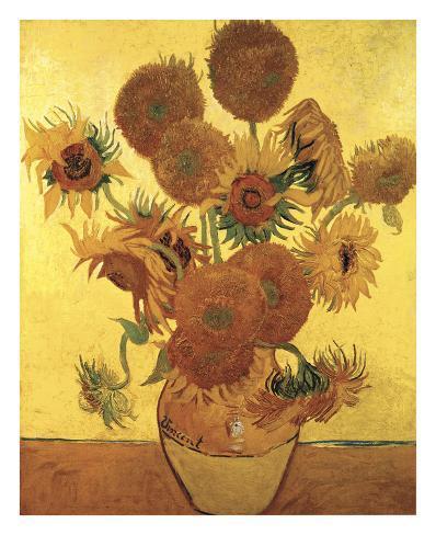 vierzehn sonnenblumen in einer vase 1888 poster von vincent van gogh bei. Black Bedroom Furniture Sets. Home Design Ideas