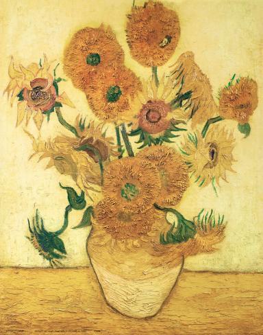vierzehn sonnenblumen in einer vase 1888 kunstdrucke von vincent van gogh bei. Black Bedroom Furniture Sets. Home Design Ideas