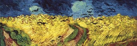 Wheat Field with Crows Kunstdruk