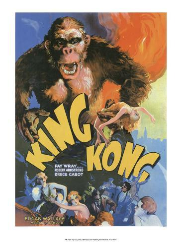 Vintage Movie Poster - King Kong Kunstdruk