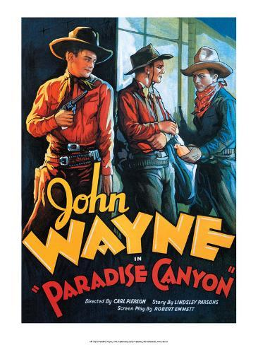 Vintage Movie Poster - Paradise Canyon with John Wayne Kunstdruk