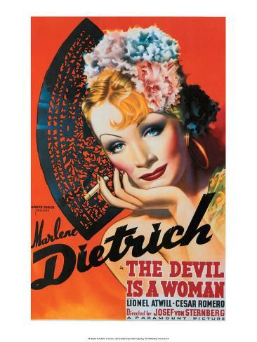 Vintage Movie Poster - The Devil is a Woman Kunstdruk