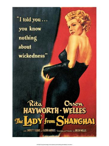 Vintage Movie Poster - The Lady from Shanghai Kunstdruk