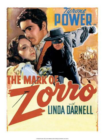 Vintage Movie Poster - The Mark of Zorro Kunstdruk