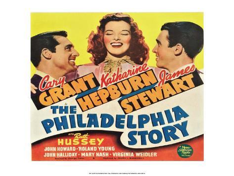 Vintage Movie Poster - The Philadelphia Story Kunstdruk