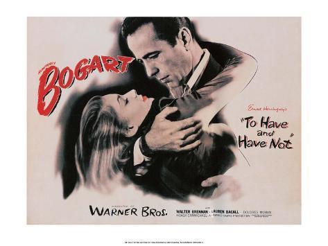 Vintage Movie Poster - To Have and Have Not Kunstdruk