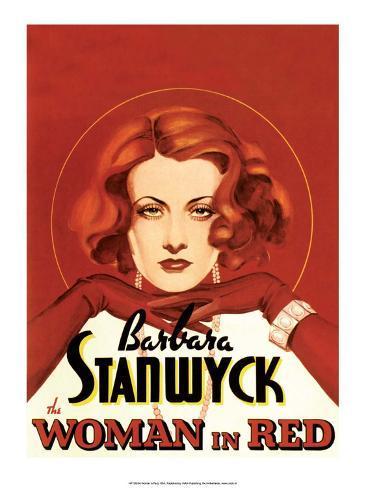 Vintage Movie Poster - Woman in Red Kunstdruk
