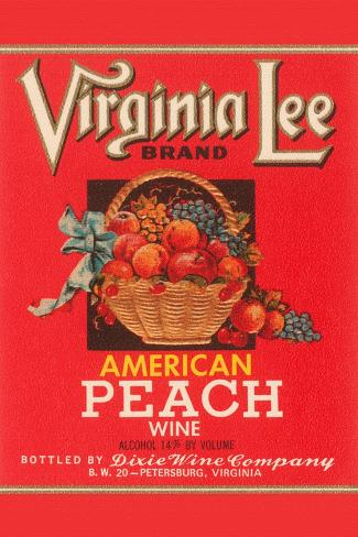 Virginia Lee American Peach Wine Kunstdruck