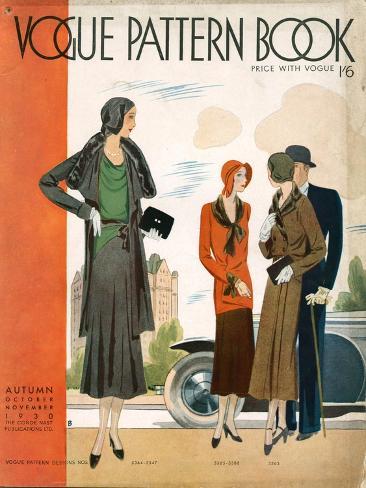 Vogue Pattern Book Cover, UK, 1930 Giclée-Druck