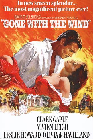 Vom Winde verweht, Englisch Poster