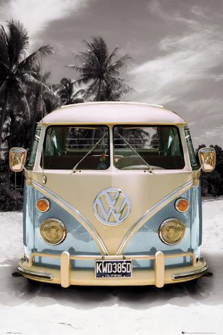 vw bulli california camper poster bei. Black Bedroom Furniture Sets. Home Design Ideas