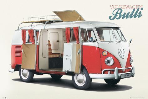 vw camper bulli kunstdrucke bei. Black Bedroom Furniture Sets. Home Design Ideas