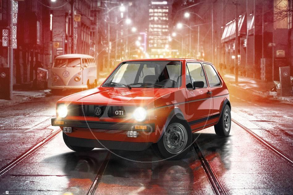 VW- Golf GTI MK1 Kunstdruck bei AllPosters.de