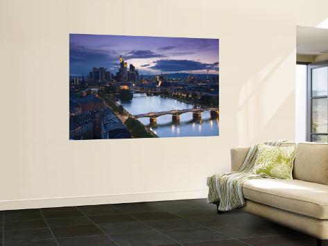skyline frankfurt am main hessen germany fototapete von walter bibikow bei. Black Bedroom Furniture Sets. Home Design Ideas