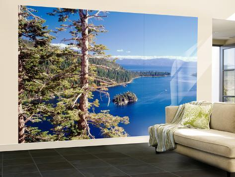 view of lake tahoe and emerald bay in morning california usa fototapete gro von walter. Black Bedroom Furniture Sets. Home Design Ideas