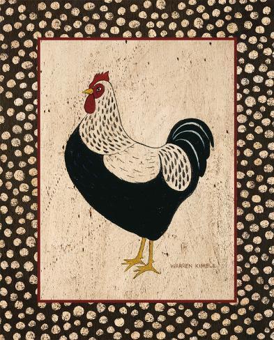 Whiteback Chicken Kunstdruck