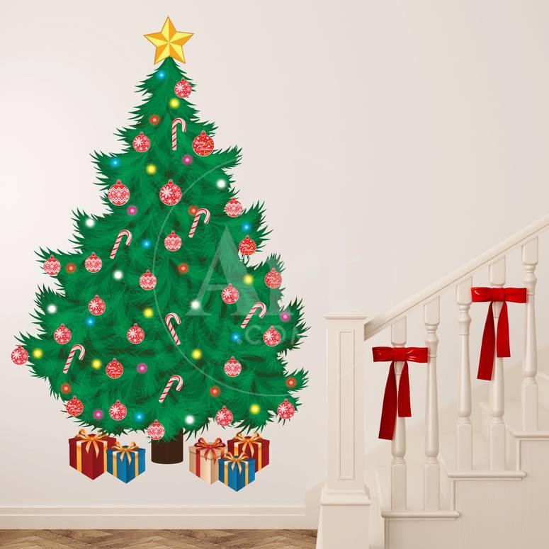 Weihnachtsbaum Wandtattoo bei AllPosters.de