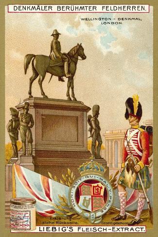 Wellington Monument, London Giclée-Druck