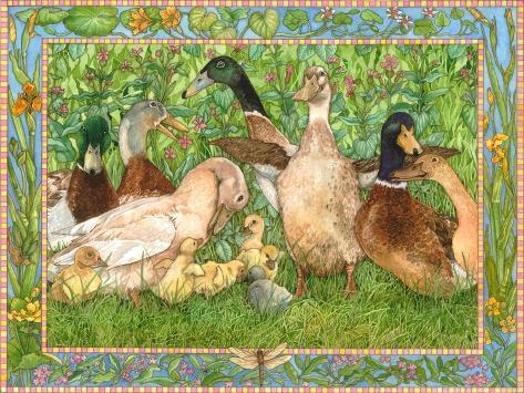 Ducks in a Row Giclée-Druck