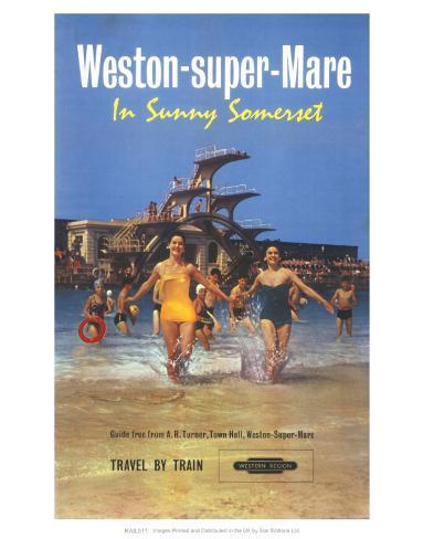 Weston-Super-Mare, in Sunny Somerset Kunstdruck