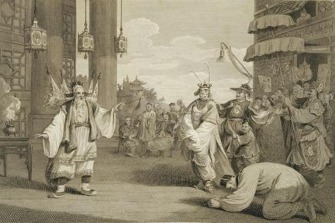 A Scene in an Historical Play Exhibited on the Chinese Stage, Engraved by James Heath Giclée-Druck