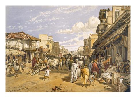 The Chitpore Road, from 'India Ancient and Modern', 1867 (Colour Litho) Giclée-Druck