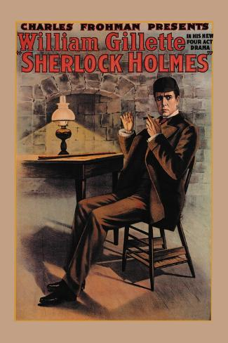 William Gillette as Sherlock Holmes Wandtattoo