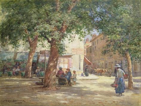 The Market Square Giclée-Druck