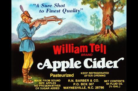 William Tell Apple Cider Kunstdruck