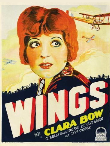 Wings, Clara Bow, 1927 Kunstdruck