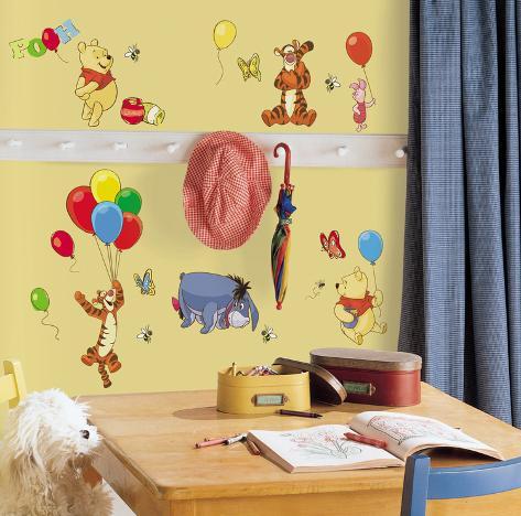 Muursticker Winnie The Pooh.Winnie The Pooh Pooh Friends Peel Stick Wall Decals