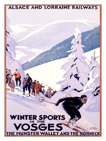 Winter Sports in the Vosges Giclée-Druck