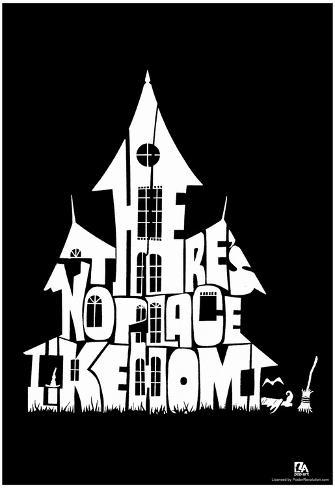 Witch's House There's No Place Like Home Text Poster Poster