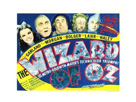 Wizard of Oz, Judy Garland, Frank Morgan, Ray Bolger, Bert Lahr, Jack Haley, 1939 Foto
