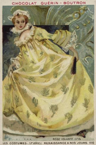 Woman's Dress, 1715 Giclée-Druck