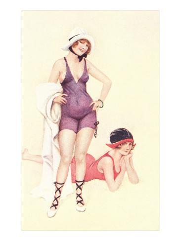 Women in Bathing Costumes Kunstdruck