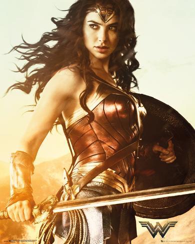 Wonder Woman Sword Poster