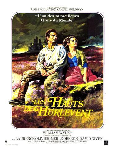 Wuthering Heights, French Movie Poster, 1939 Kunstdruk