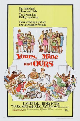 Yours, Mine and Ours, Henry Fonda, Lucille Ball, 1968 Kunstdruck