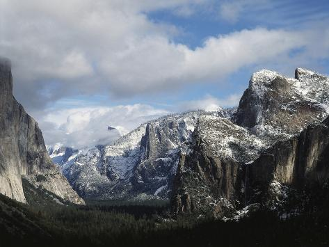 USA, California, Yosemite National Park in Winter Fotografie-Druck