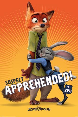 Zootropolis- Suspect Apprehended Poster