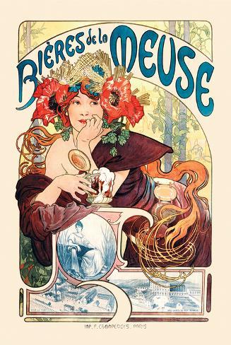 ムーズ河のビール ポスター