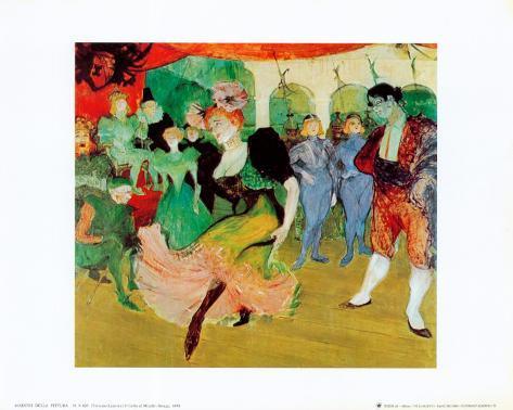 ムーランルージュのダンス アートプリント