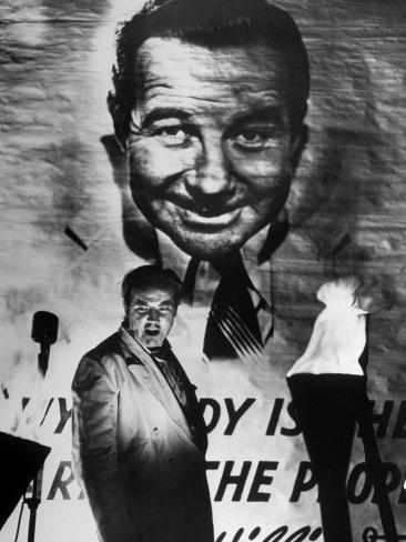 Actor Broderick Crawford Performing in a Scene from the Movie