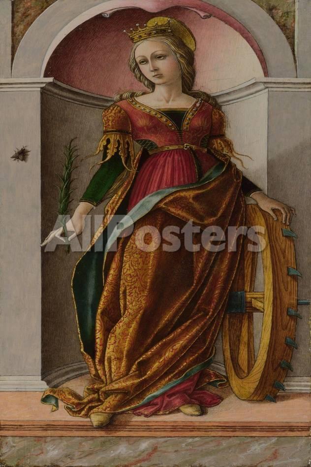 オールポスターズの カルロ クリヴェリ saint catherine of alexandria