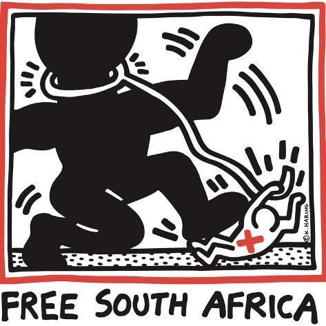 オールポスターズの キース ヘリング free south africa 1985
