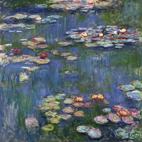 睡蓮, 1916 Water Lilies, 1916 ジクレープリント