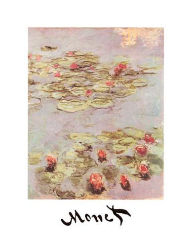Red Water Lilies アートプリント