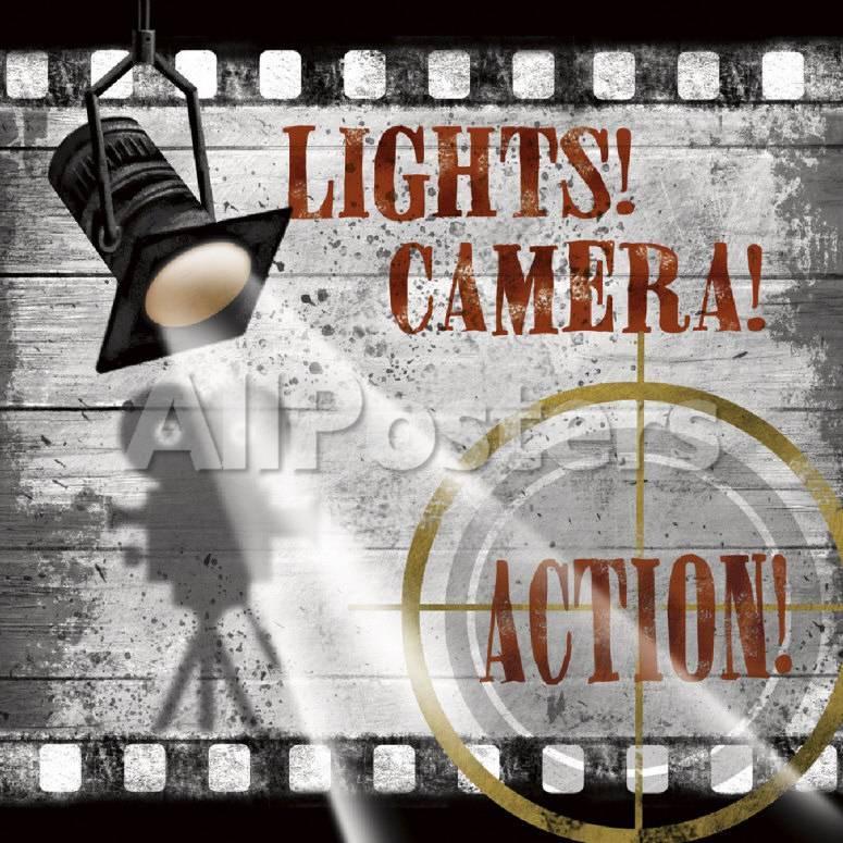 オールポスターズの コンラッド ナッツセン lights camera action